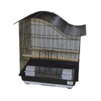 Daro – Curved Lovebird and Parakeet Cage – Black (47,5 x 36 x 55cm)