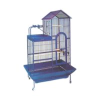 Daro – Parrot Cage with Perch – Steel Blue (93 x 69 x 160cm)