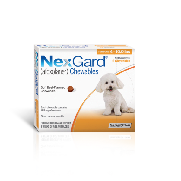 NexGard – Chewable Tick and Flea Prevention for Small Dogs (2 – 4 kg)