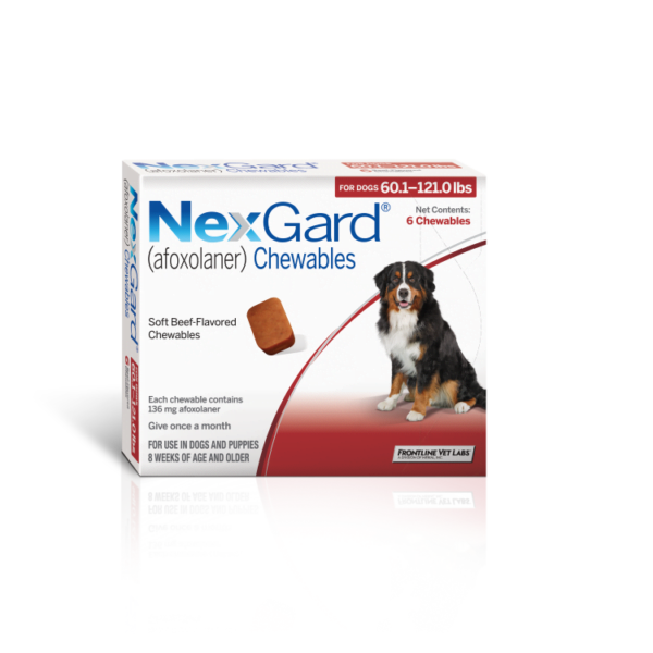 NexGard – Chewable Tick and Flea Prevention for X-Large Dogs (25 – 50 kg)