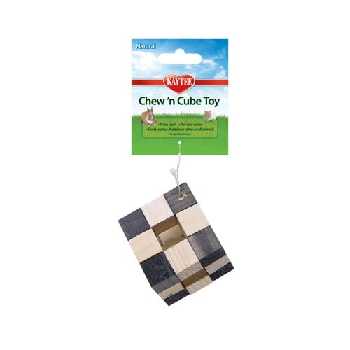 Kaytee – Natural Chew-N-Cube Toy for Small Animals